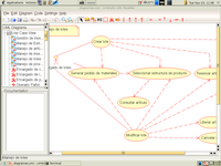 A use case class diagram in Umbrello 1.3.